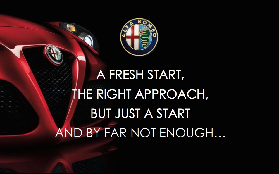 Alfa Romeo Has A New Corporate Plan *Sigh*